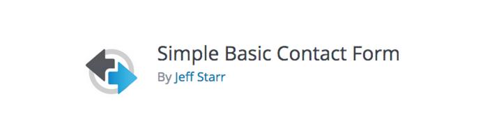 WordPress Plugins - Simple Basic Contact Form