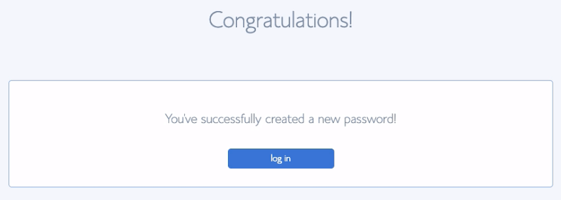 Bluehost Password Created