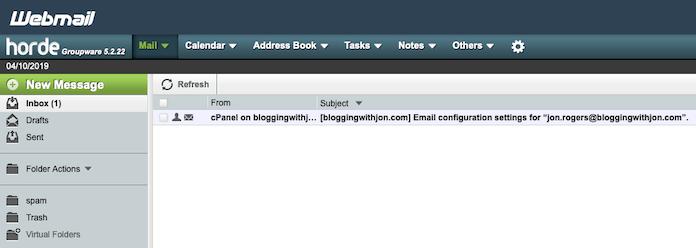 Inside Horde Webmail